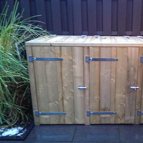 Houten container ombouw